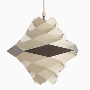 Lámpara colgante Symfoni blanca y gris de Preben Dahl para HF Belysning, años 60