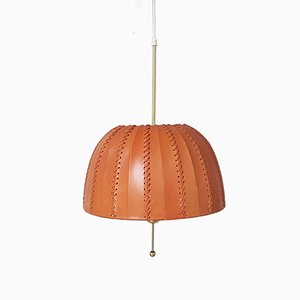 Vintage T549/3 Carolin Pendant with Leather Shade by Hans Agne Jakobsson for Hans Agne Jakobsson Ab