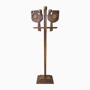 Candelabro de madera, años 60