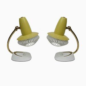 Lámparas de mesa italianas pequeñas, años 50. Juego de 2