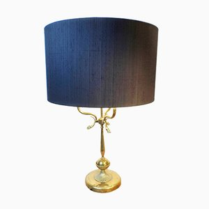 Vintage Large Dolphin Bouillotte Lamp