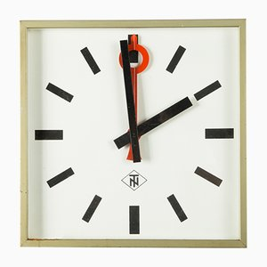 Large German Electric Wall Clock from Telenorma, 1960s