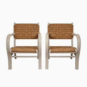Bauhaus Armchairs by Erich Dieckmann, 1920s, Set of 2