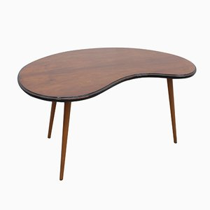 Mid-Century Curved Side Table