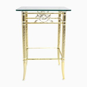 Gilded and Silver-plated Side Table, 1970s