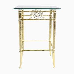 Tavolino placcato in oro e argento, anni '70