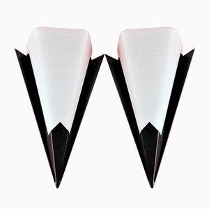Eck-Wandlampen aus Plexiglas, 1950er, 2er Set