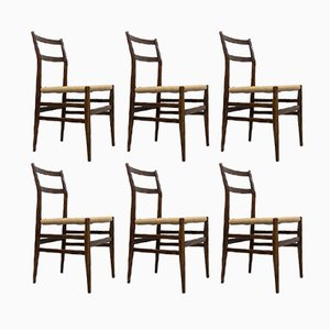646 Leggera Chairs by Gio Ponti for Cassina, 1952, Set of 6
