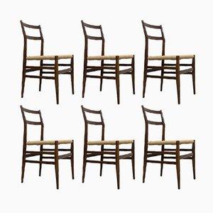 646 Leggera Stühle von Gio Ponti für Cassina, 1952, 6er Set