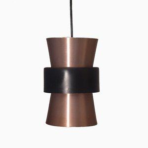 Lámpara colgante danesa vintage pequeña de cobre