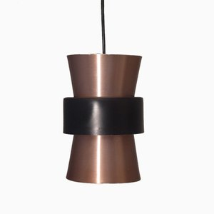 Small Vintage Danish Copper Pendant Lamp