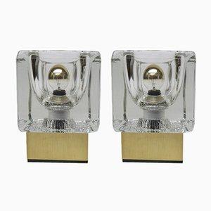 Petites Lampes de Bureau Vintage en Aluminium et Verre de Peill & Putzler, Set de 2