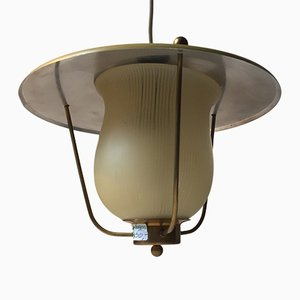 Lámpara colgante Funkis danesa de Lyfa, años 40