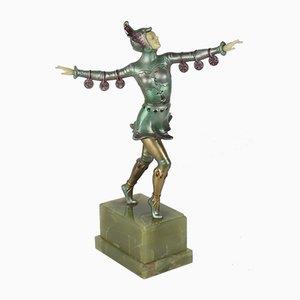 Figurina Art Deco in metallo, Germania, anni '20