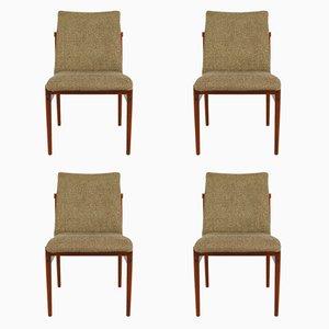 Chaises de Salon Vintage en Teck et Tissu de Thereca, Set de 4