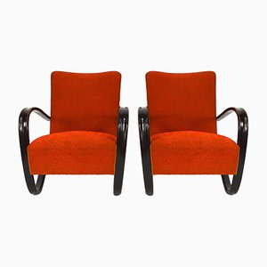 Lounge Chairs by Jindřich Halabala for UP Závody, 1957, Set of 2