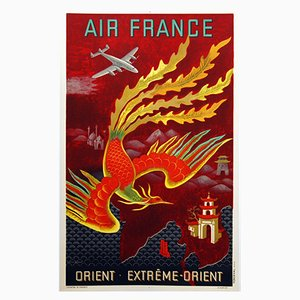 Air France Plakat von The Orient Extreme-Orient, 1947