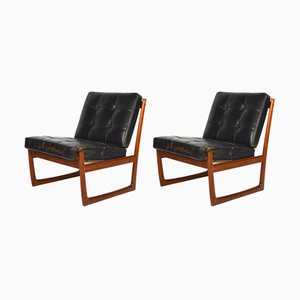Vintage Lounge Chairs by Peter Hvidt and Orla Molgaard-Nielsen for France & Son, Set of 2