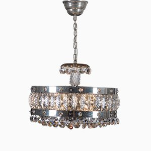 Mid-Century Crystal Chandelier from Orrefors, 1960s