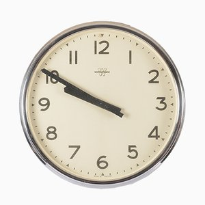 Large Office or Workshop Wall Clock from Westerstrands, 1970s