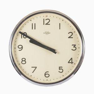 Reloj de pared de taller o oficina grande de Westerstrands, años 70