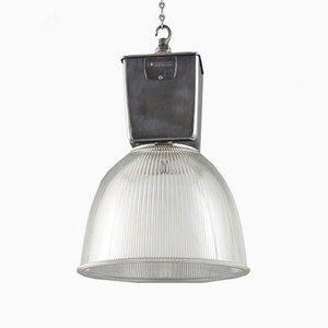 Lámpara colgante industrial vintage de Holophane