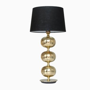 Triple Globe Table Light in Brass by Henrik Blomqvist for Tranas Stilarmatur, 1950s