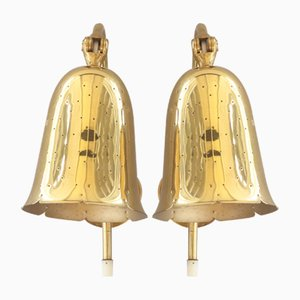 Wall Lamps in Brass from Boréns, 1950s, Set of 2
