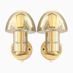 Wall Sconces in Brass by Hans Agne Jakobsson, 1960s, Set of 2