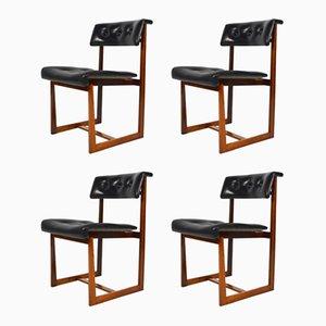 Chaises de Salon Vintage en Palissandre, Set de 4