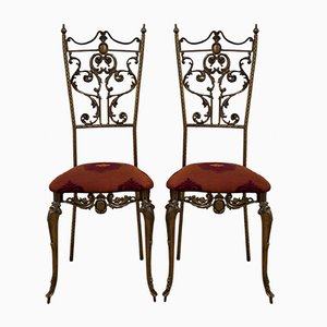 Italian Neoclassical Style Chairs, 1950s, Set of 2