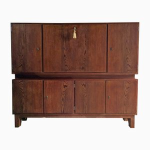 Mid-Century Pitch Pine Cabinet, 1940s