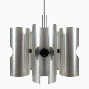 Lámpara colgante era espacial de aluminio, años 70