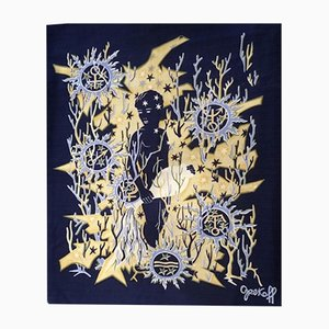 Mid-Century Aquarius Tapestry by Élie Grekoff for Tanit, 1950s