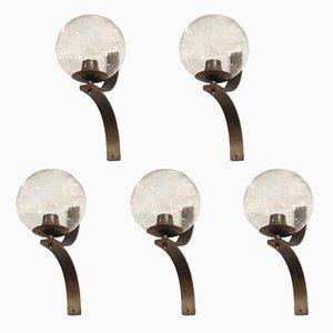 Lámparas de pared, años 50. Juego de 5