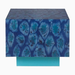 Osis Edition1 Cube Peacock Table in Blue by LLOT LLOV