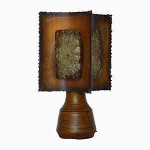 Lámpara de mesa vintage de cerámica de Accolay