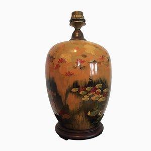 Lámpara de mesa china vintage de cerámica, años 80