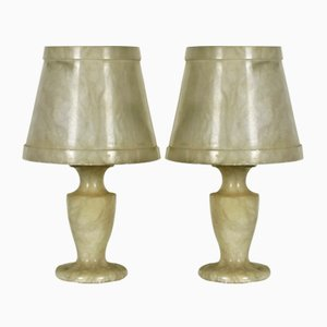 Small Alabaster Table Lamps, 1960s, Set of 2