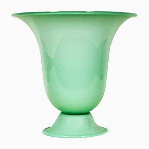 Lámpara de mesa de vidrio opalino, años 20