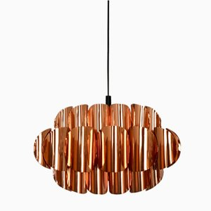 Lámpara de techo de cobre de Hans Agne Jakobsson, años 60