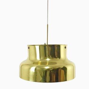 Lampada grande in ottone di Anders Pehrson per Ateljié Lyktan, anni '70