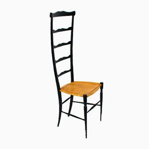 Italienischer Vintage Stuhl mit Hoher Rückenlehne von Chiavari, 1940er