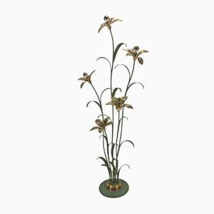 Florale Stehlampe, 1980er