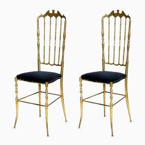 Italian Chiavari Chairs, 1950s, Set of 2