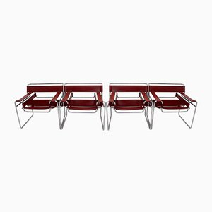 Model B3 Wassily Chairs by Marcel Breuer for Fasem, 1986, Set of 4