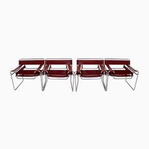 Sedie modello B3 Wassily di Marcel Breuer per Fasem, 1976, set di 4