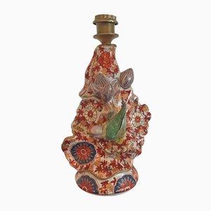 Base de lámpara japonesa de cerámica pintada a mano, años 30
