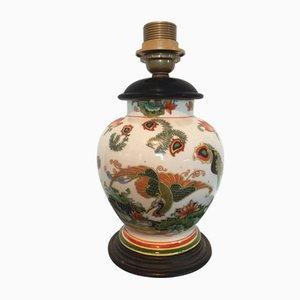 Lámpara de mesa japonesa de cerámica, años 30