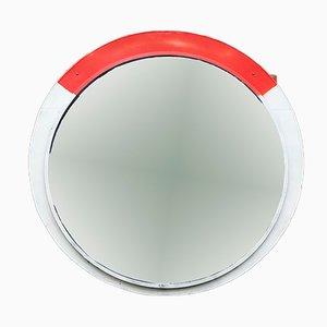 Espejo industrial grande convexo, años 60